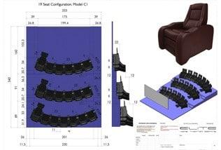 3D render, 4 seats