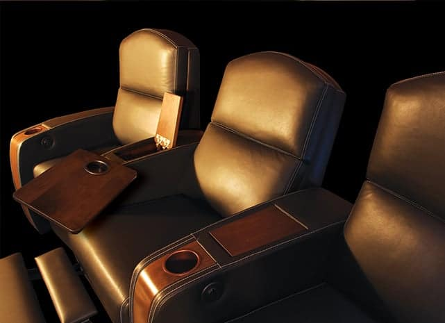 Custom arm rests with storage and cup holders