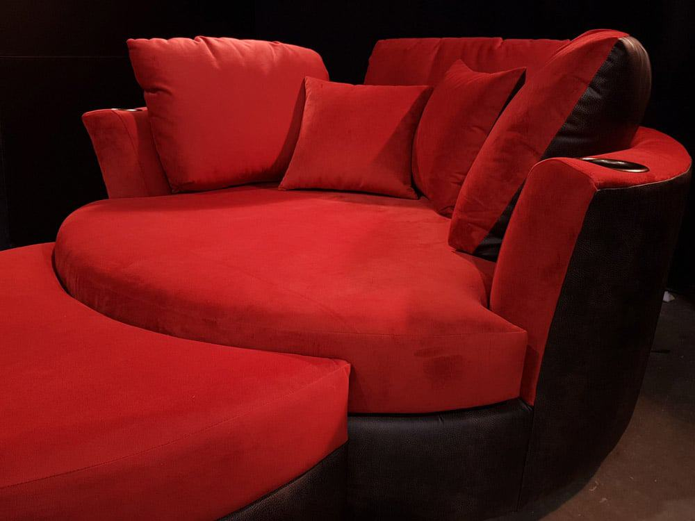 Magnificent Custom Cuddle Couch Home Theater Cuddle Sofa Chair Beatyapartments Chair Design Images Beatyapartmentscom