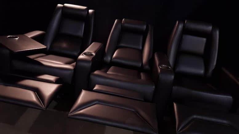 EHTS art black recliner Theatre Chairs