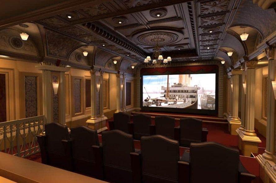 Titantic-themed Home Theatre Room