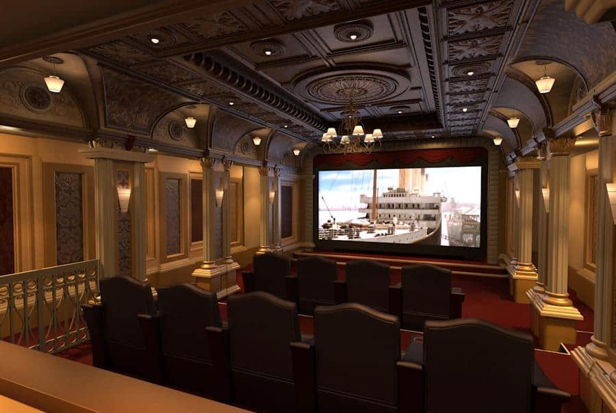 Titantic-themed Home Theatre Room