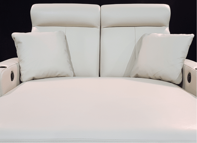 white leather, marshmallow foam, diamond elite, couch, leather