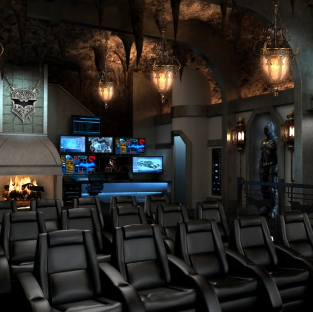 Batcave Theatre Room