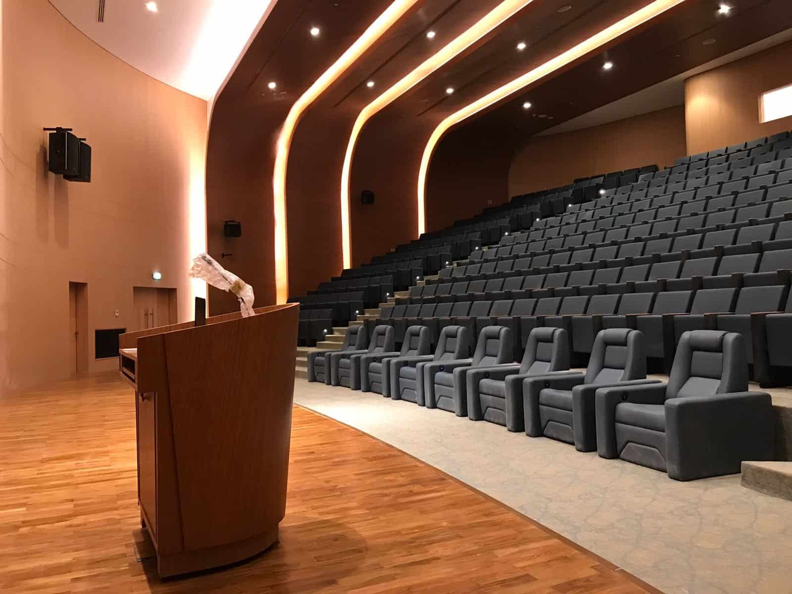 Auditorium, silk leather, N1 Seats, Cambridge Blue