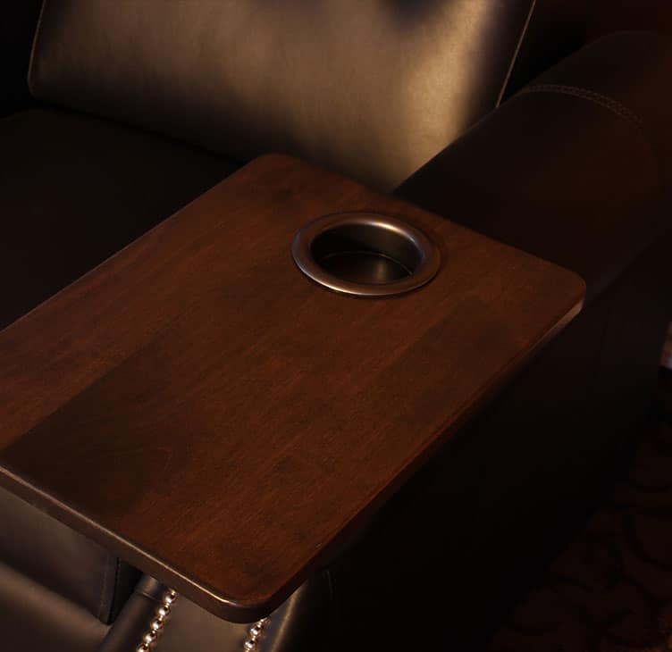 Theatre Chair Square Drink and Snack Tray