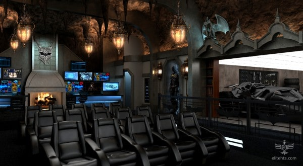 Batcave Home Theatre -Luxury home theater design