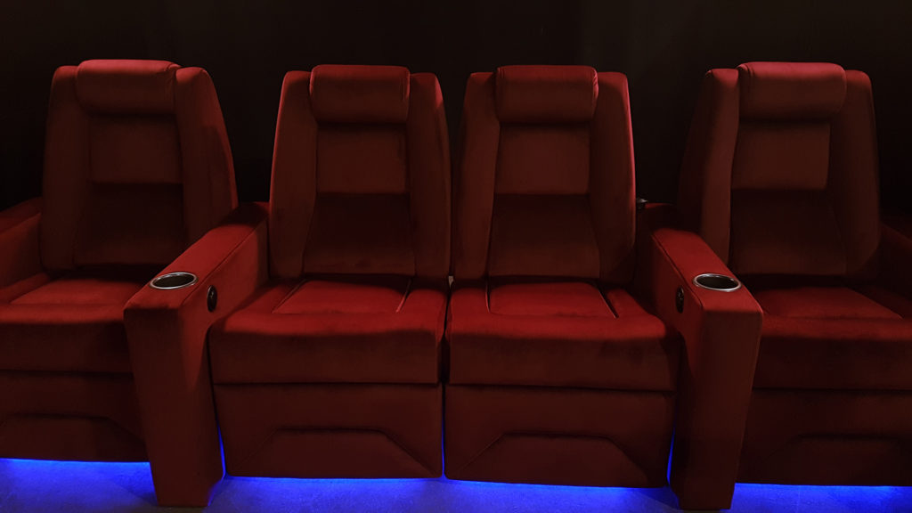 N1 Bordeaux Cine Suede under glow lighting 1