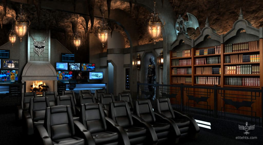 ultimate batcave home theater batman dark knight custom theme