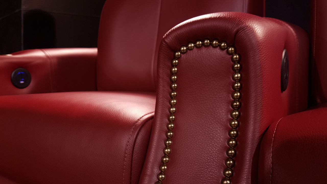 Red Leather with Pearl Armrest and USB Charger