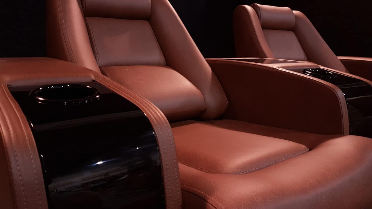 Brown Leather With a Piano Armrest