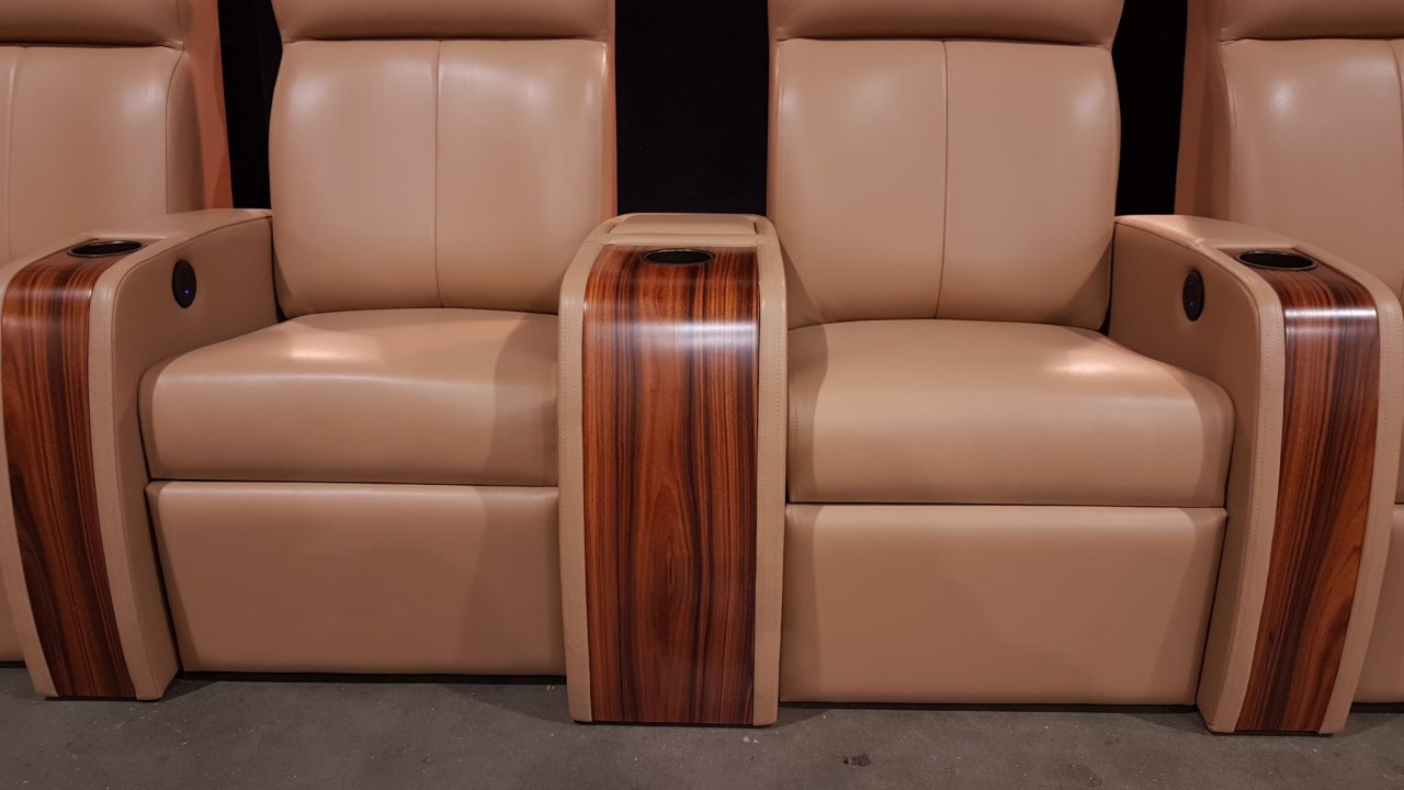 Home theater seating before Christmas