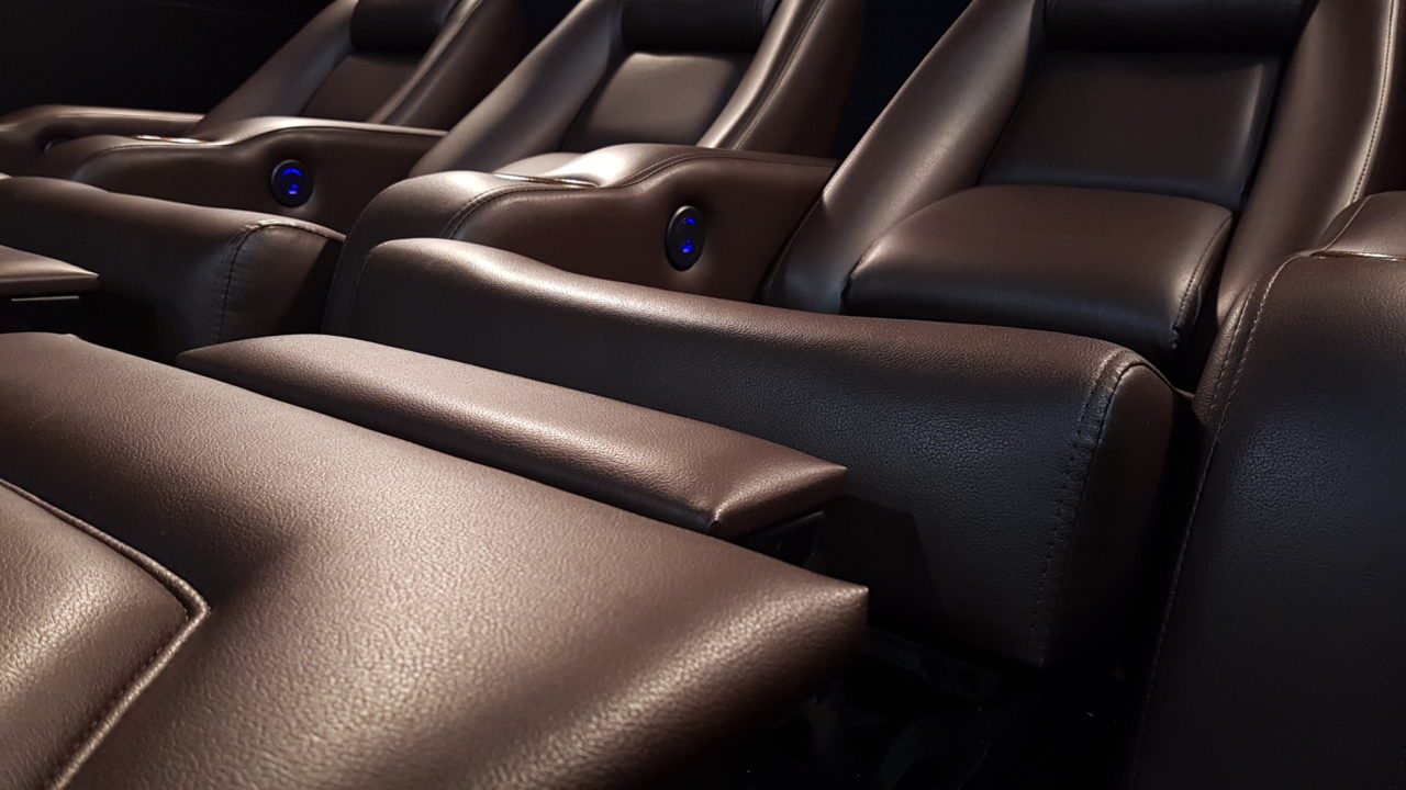 Coffee Bean Silk Leather with Custom Stitched Head Rests