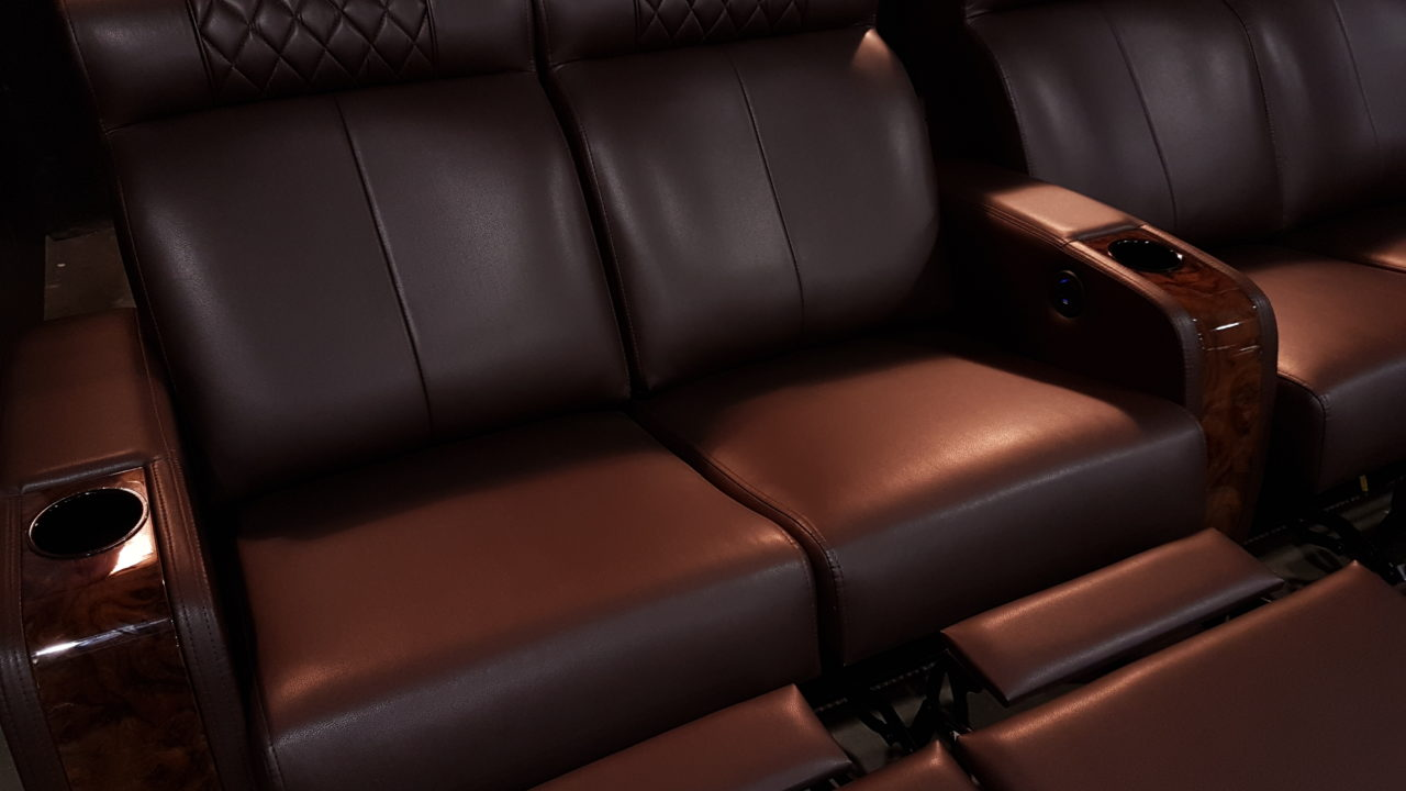 Black Leather Double Loveseats