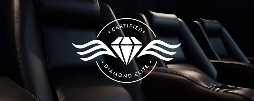 Diamond Elite Certified Theater Seating Black Leather