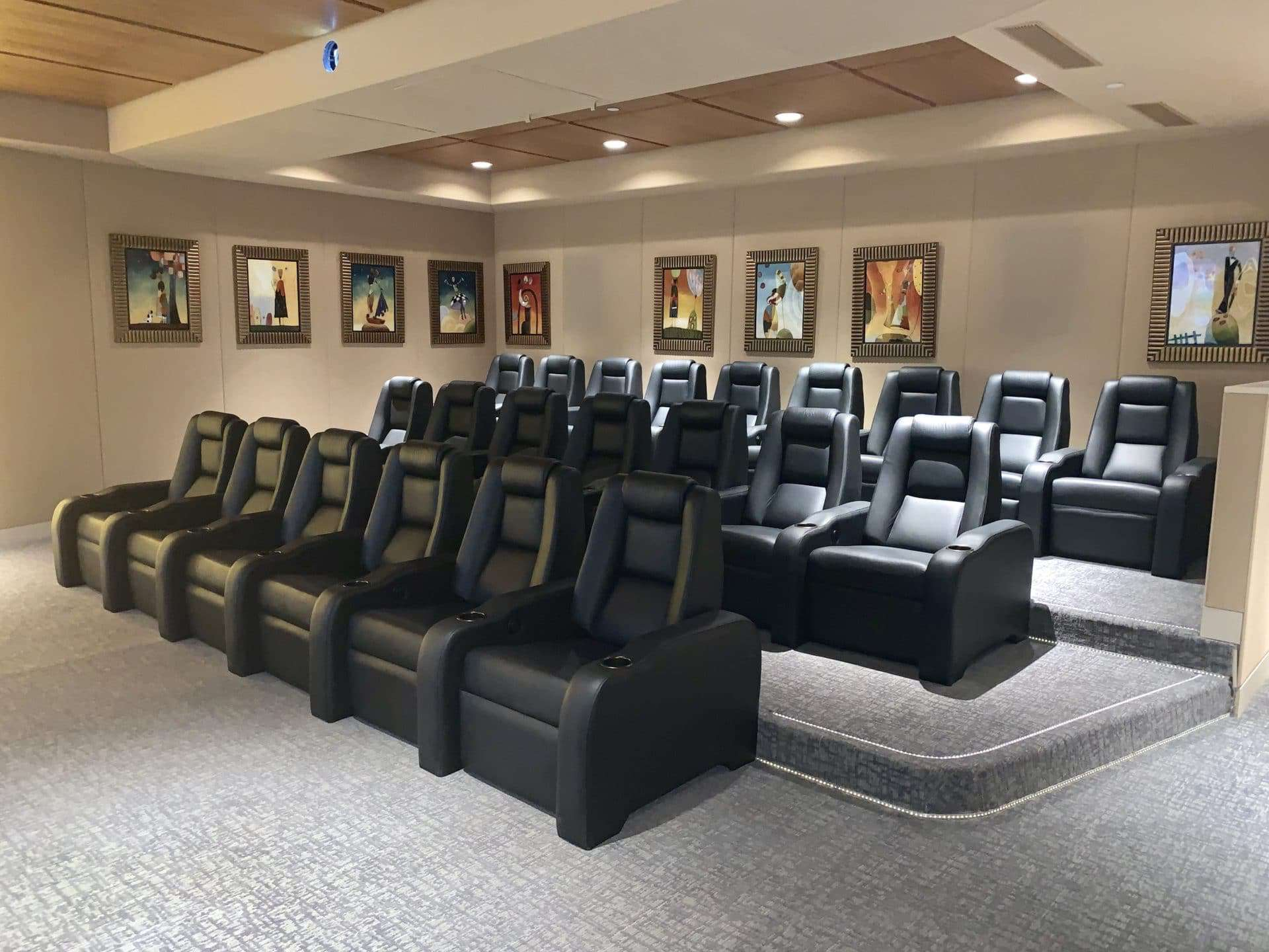 C1M Cinema Series Elite Home Theater Chairs