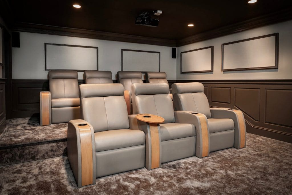 Custom home theater design by Madison Hudson Design