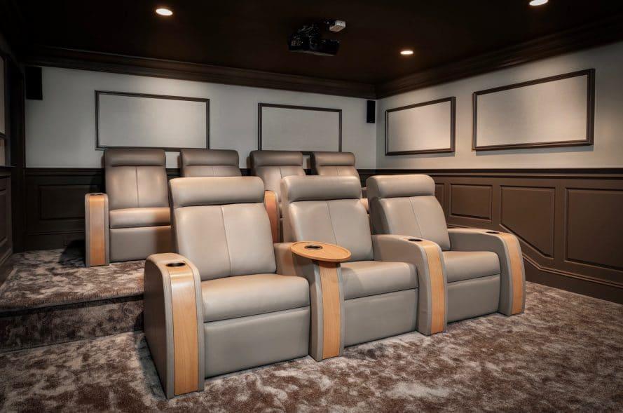 Custom home theater design by Madison Hudson Design
