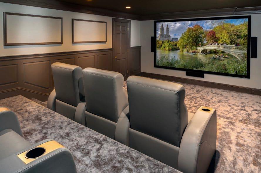 Custom home cinema by Madison Hudson Design