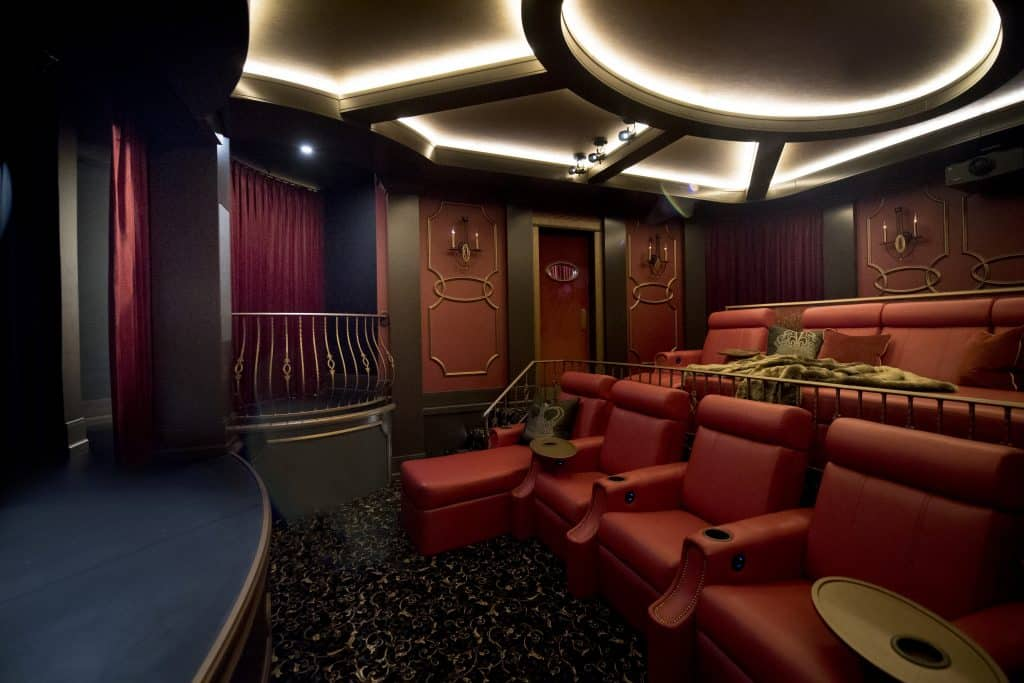 Laying out a luxury home theater design
