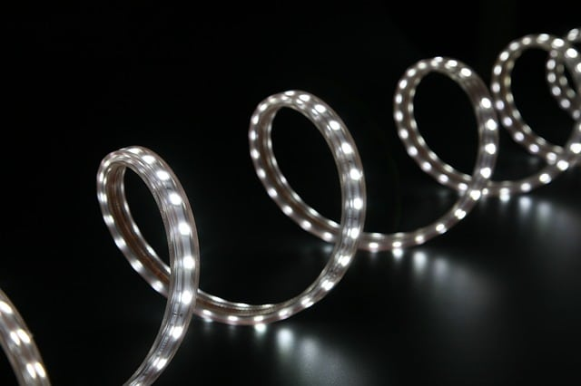 Led light strips are used to create floor lighting in home theaters