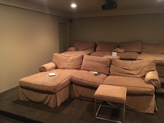 Before photo of Custom home theater