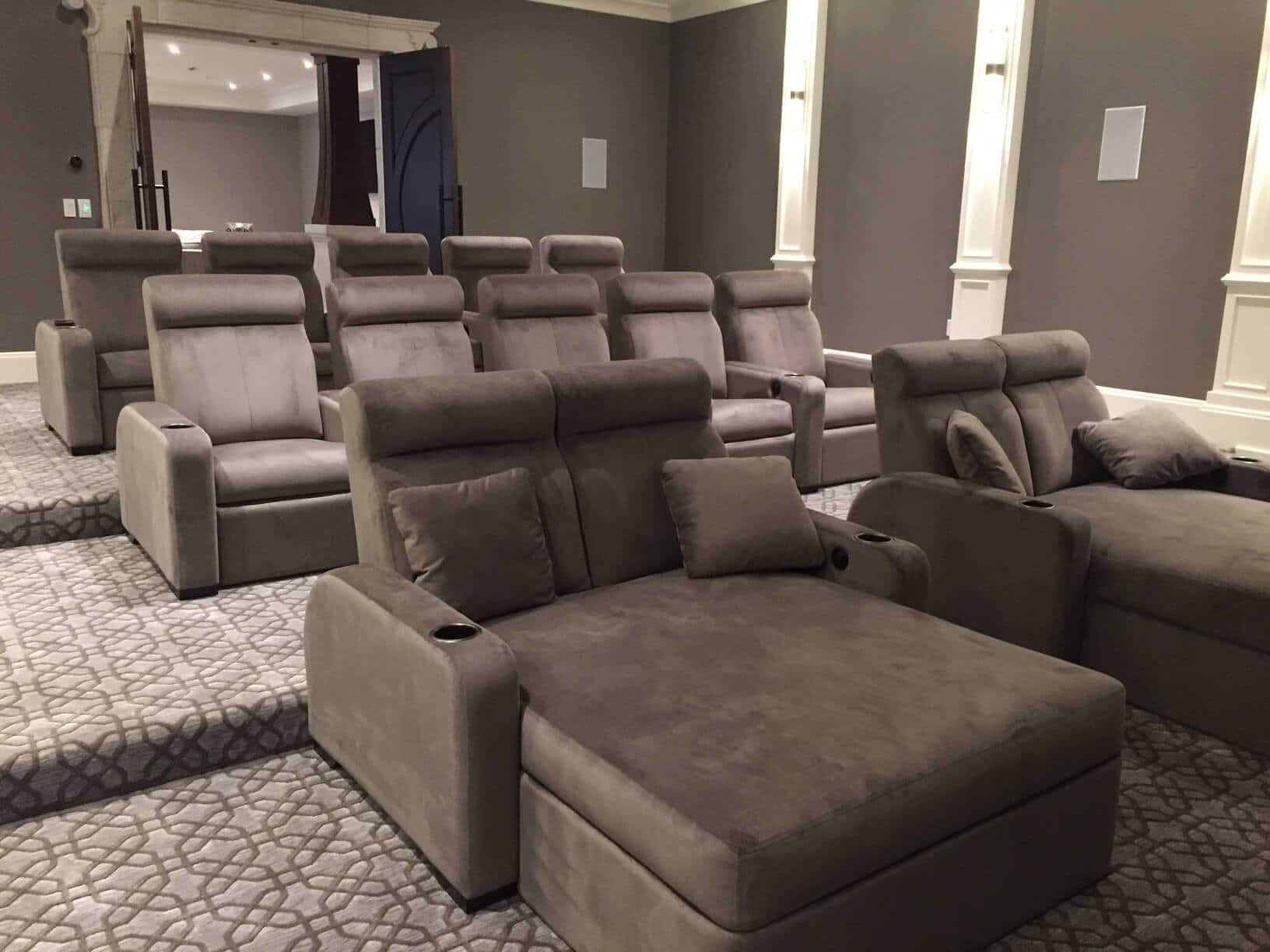 suede home theater chairs