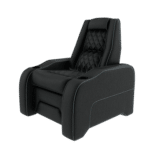 black leather home theater chair
