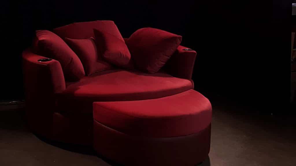 Cuddler-Couch-Berry-Cine-Suede-top-Dark-Cherry-Valentino-Base-Gun-Metal-Cupholders-HEADER