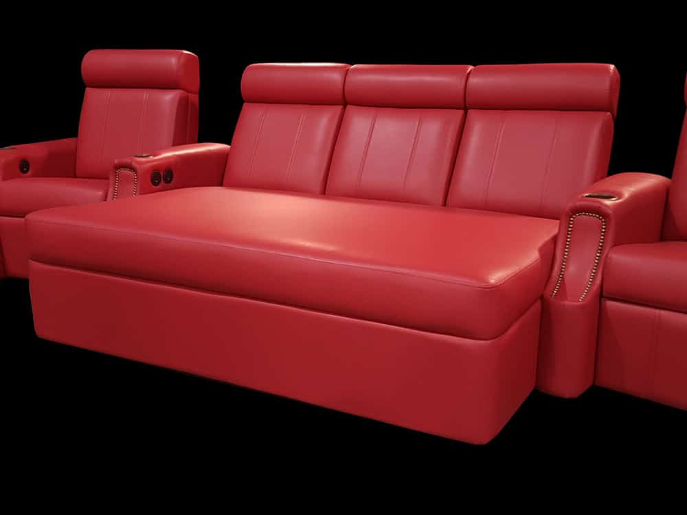 L9 Chaise, Red Leather, Chaise