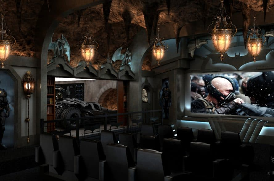 home theater seating bad cave theme image