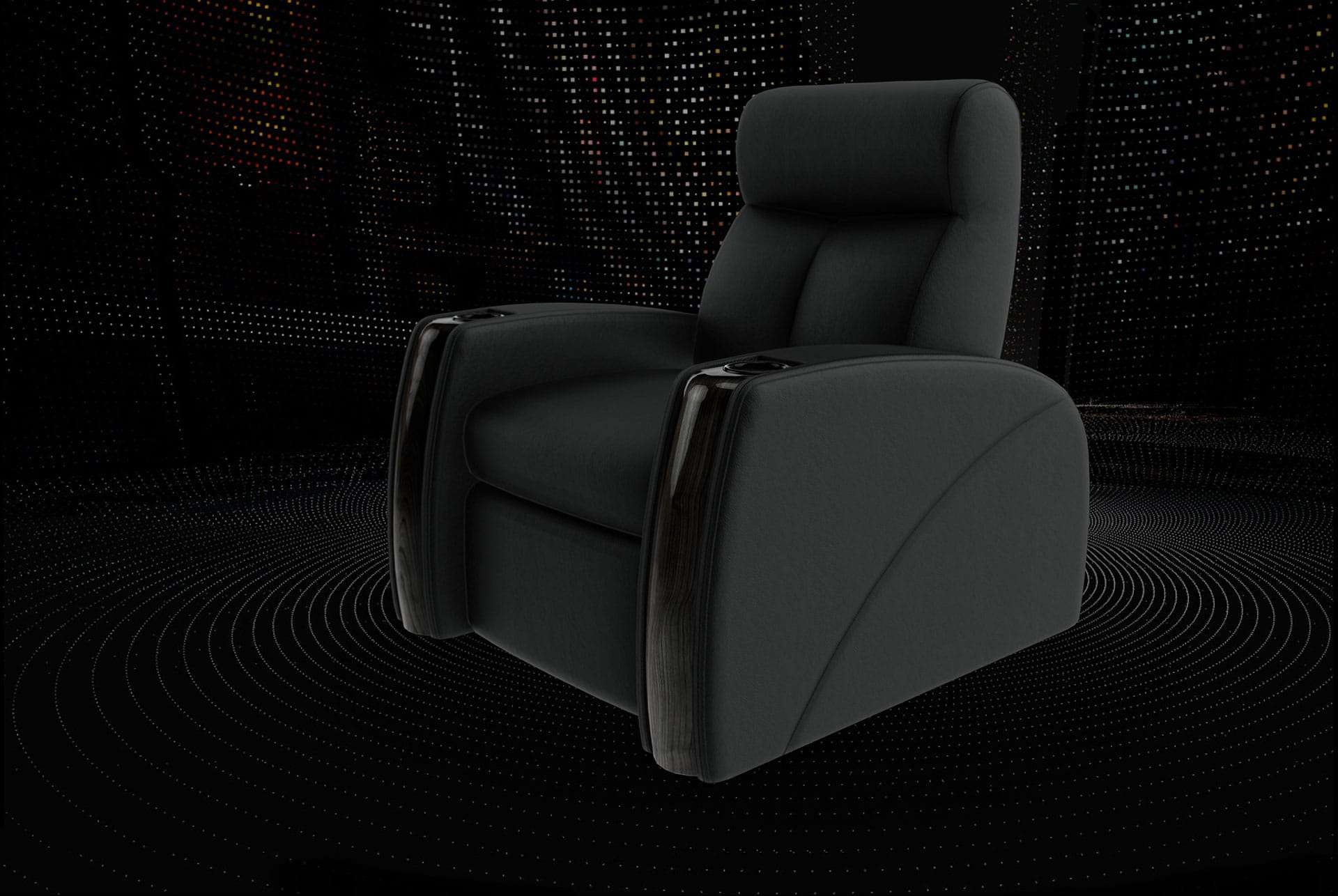 Home theater chairs black style