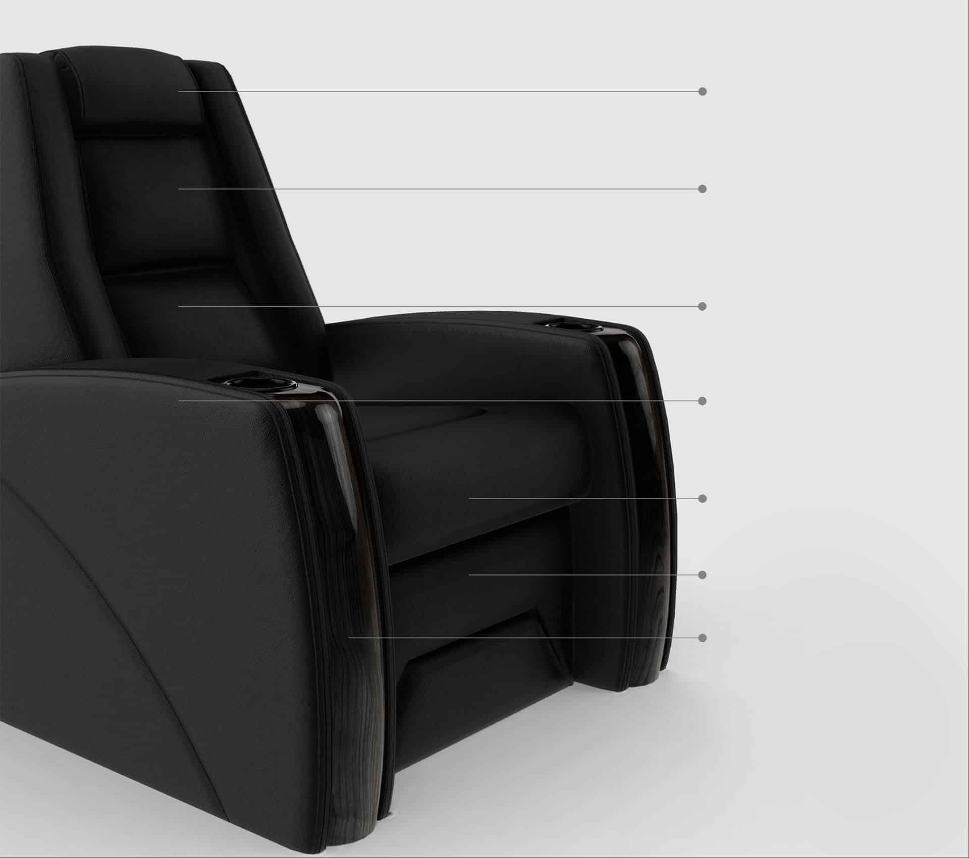Home theatre chair point image