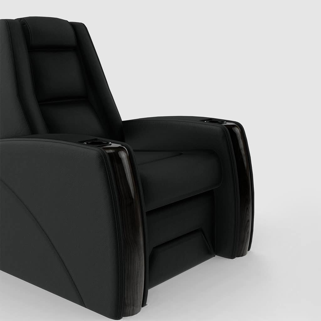 home theater seating black chair image
