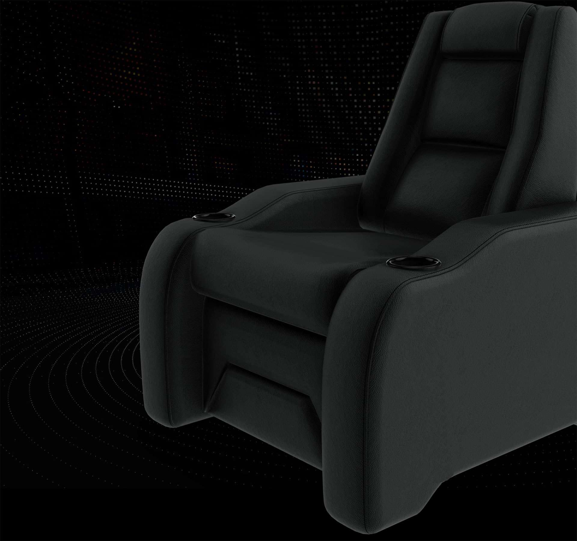 Home theatre chairs black image