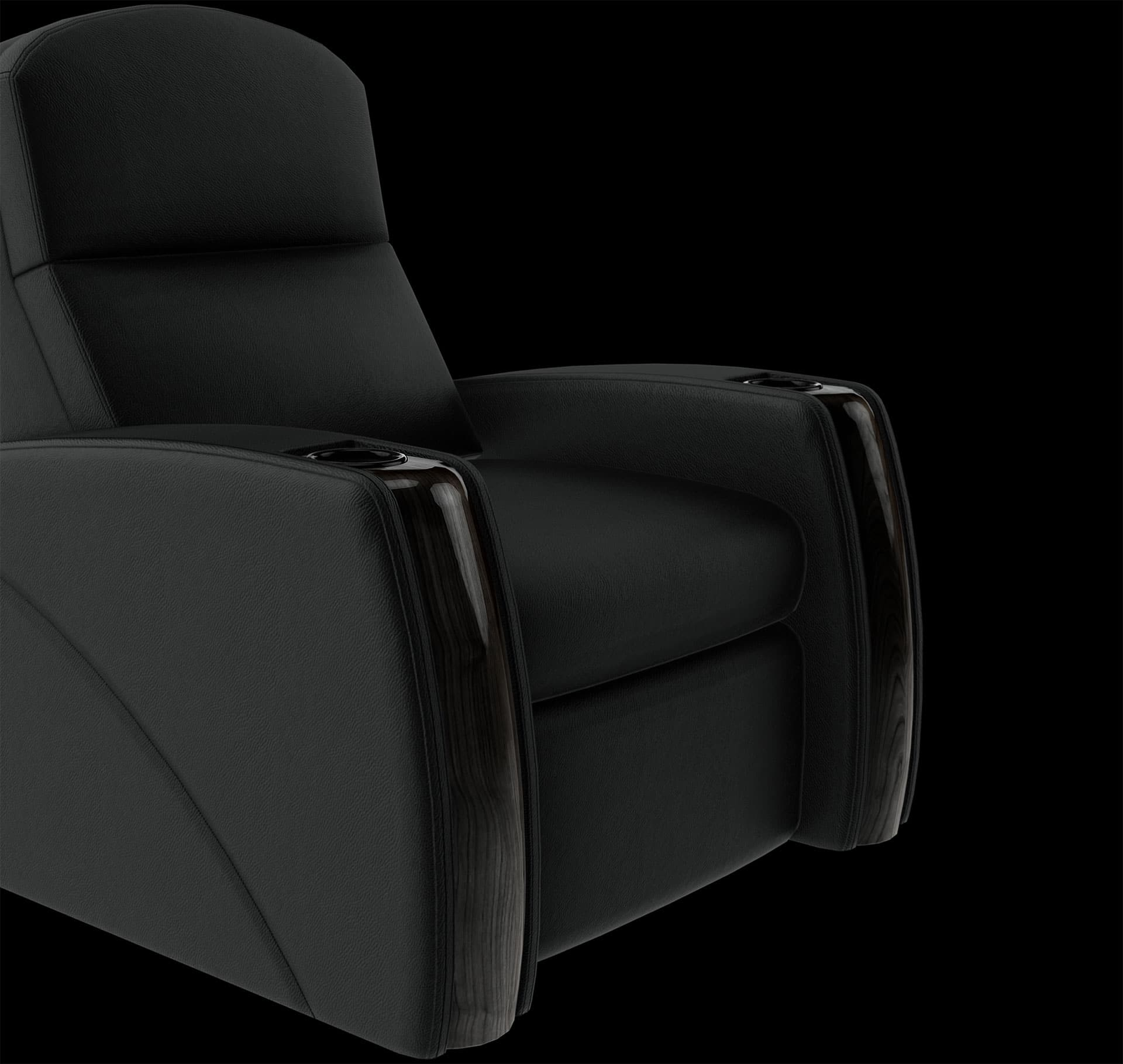 Home theater chairs black image