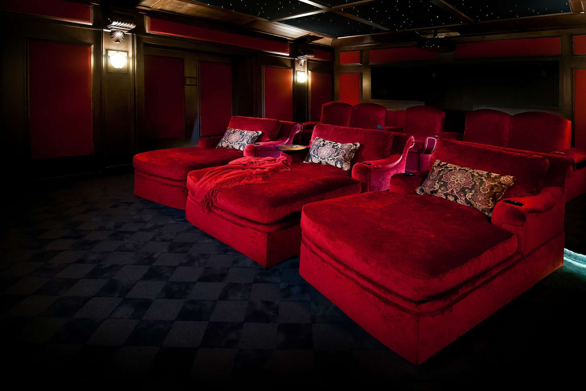 home theater chaise seating