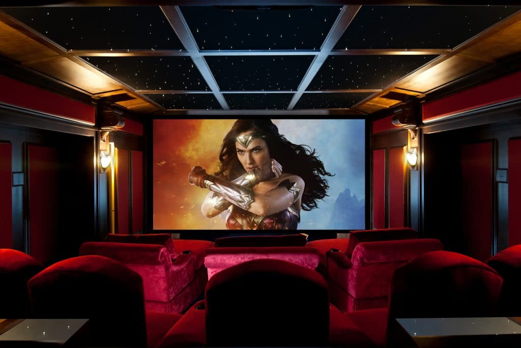 home theater seating screen image