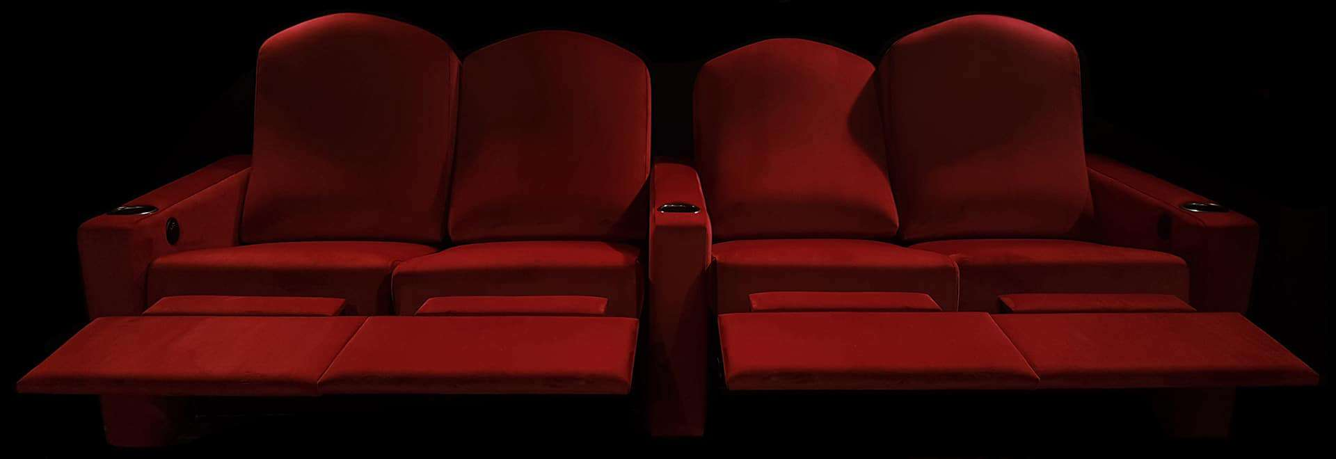 cuddler couch home theater red recliner image
