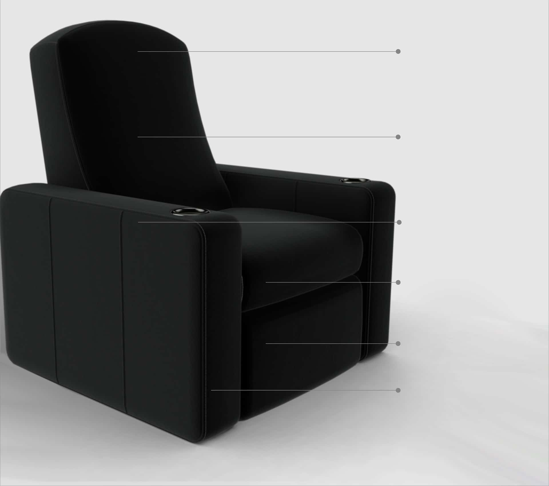 Home cinema seating point image