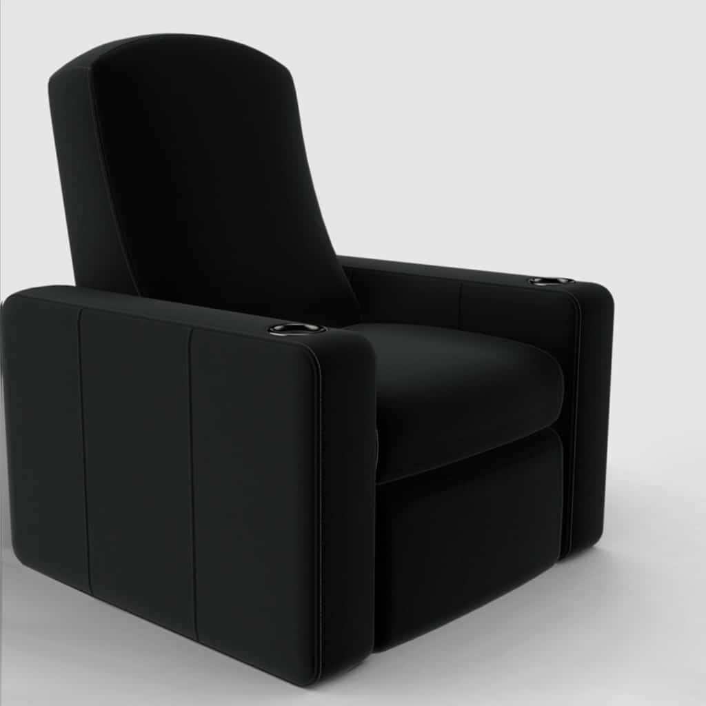 Home theatre seating black image