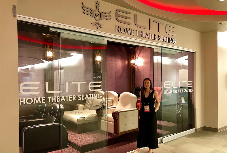 Home theater seating display room at Elite HTS image