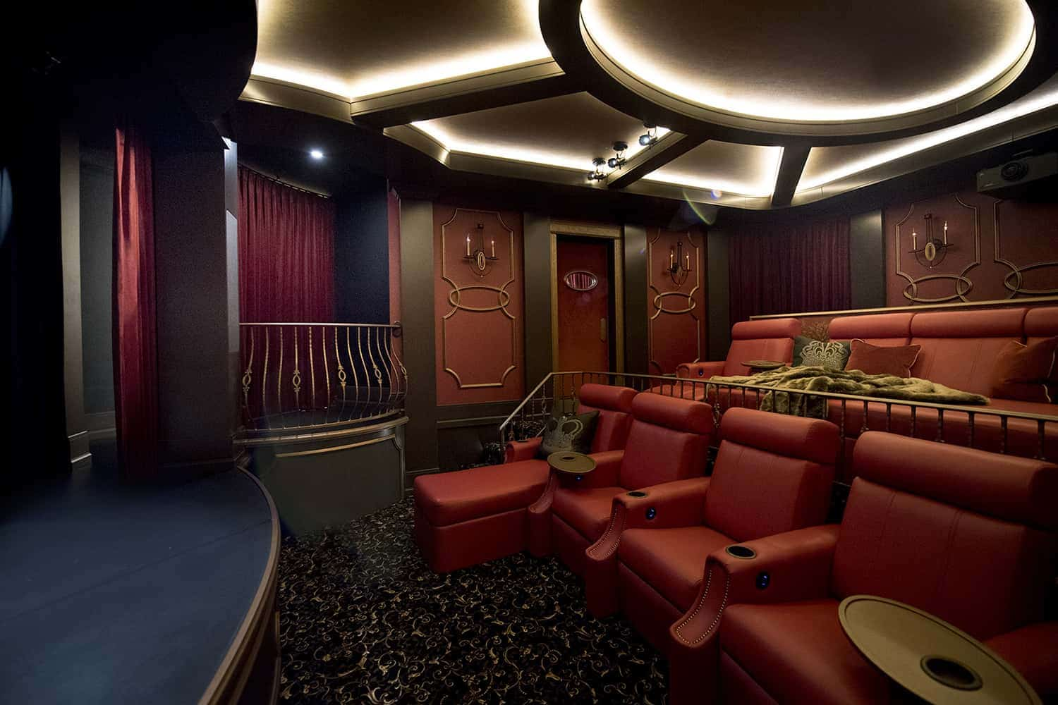 home theatre layout ideas theatrical theme