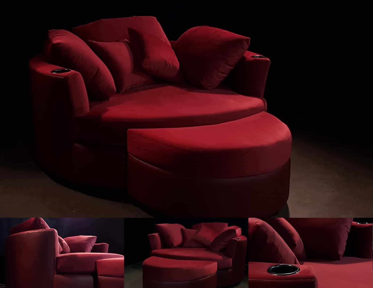 Cuddle Couch for home theatre