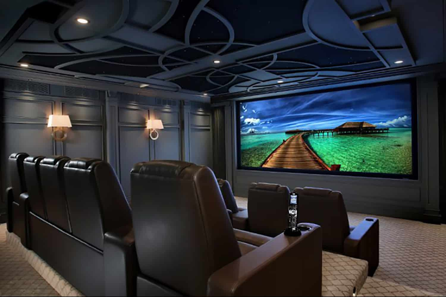home theatre layout ideas in black