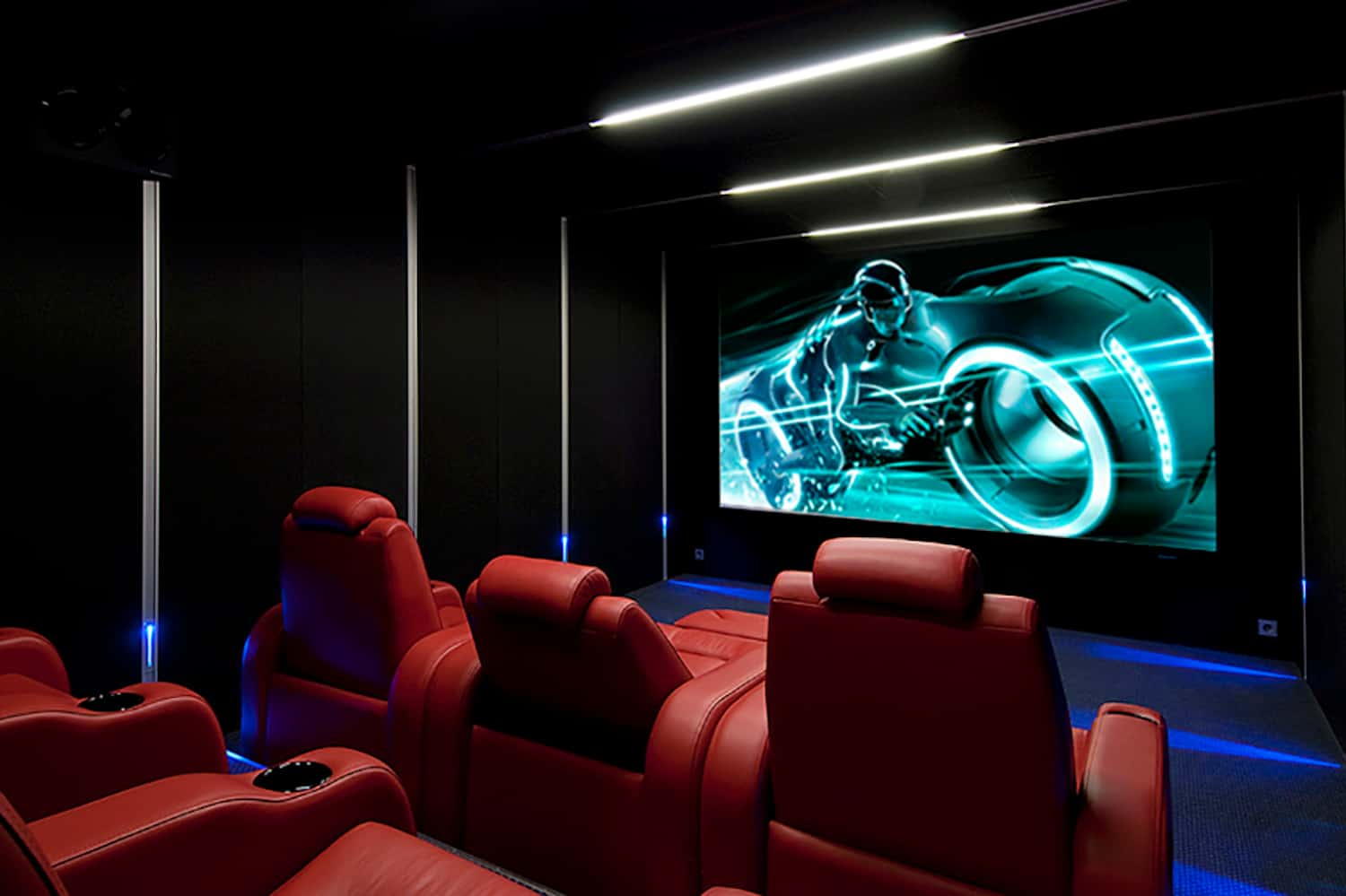home theatre seating ideas image of red chaise chairs