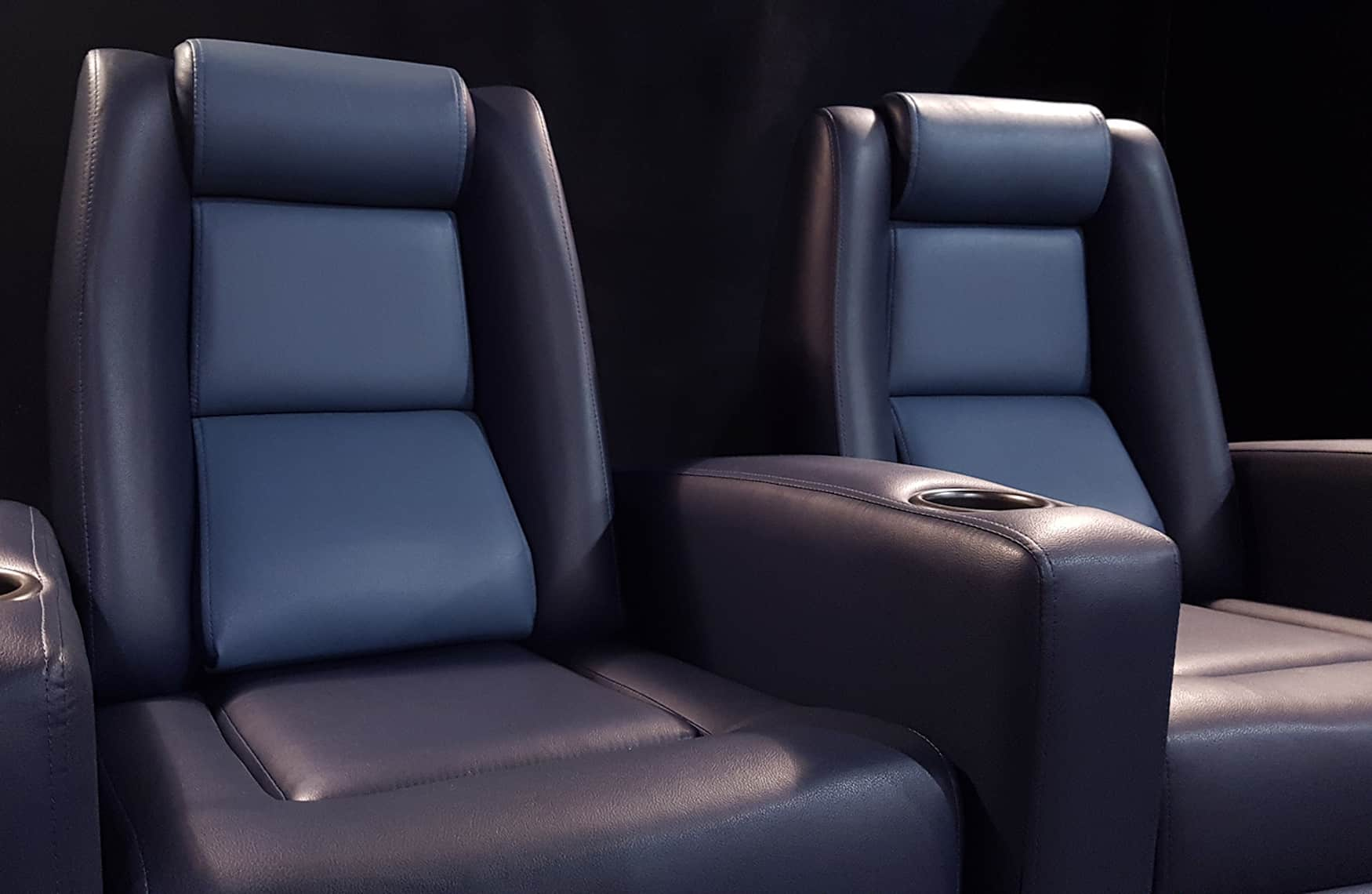 Home theatre seating dual tone image
