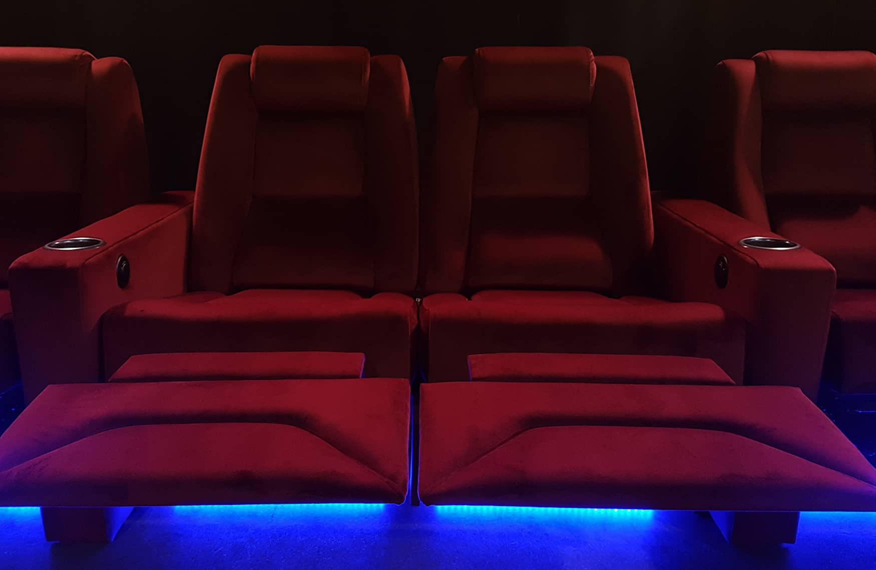 home theatre recliner chairs red fabric