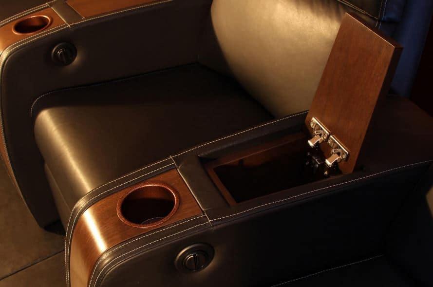 EHTS Theatre Chair-Custom Hidden Accessories Storage