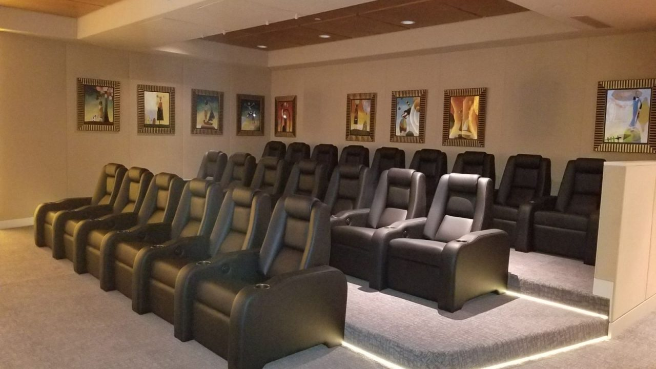 elevated home theater seating